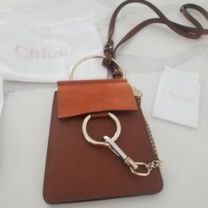 Chloé Faye Bracelet Brown Tan Leather Crossbody